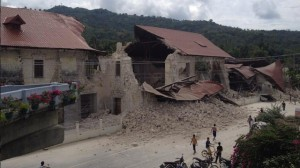 building collapsed in Bohol