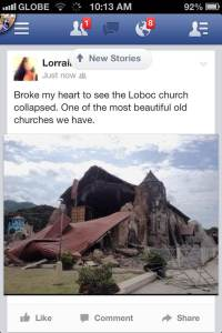 one of the oldest churches in Bohol after the earthquake