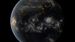 the satellite image of the massive typhoon as it approaches the Philippines