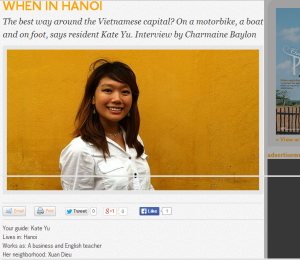 Click on the pic to go to my Hanoi article