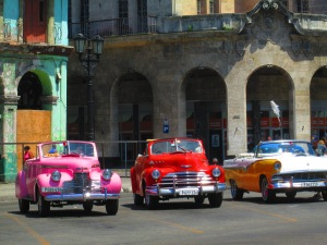 Cuba is the world's oldest car museum. Everywhere you go, you see these old Cheveys, Belairs and old Soviet cars