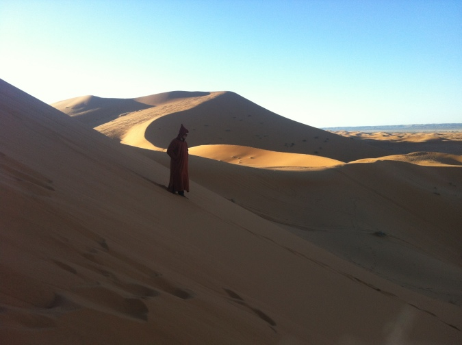 George Lucas based a lot of Star Wars on Morocco. Especially the hooded cloak called djellaba.