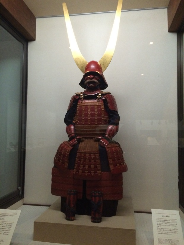 Perhaps the samurai armor of the former lord of the castle. Pretty cool