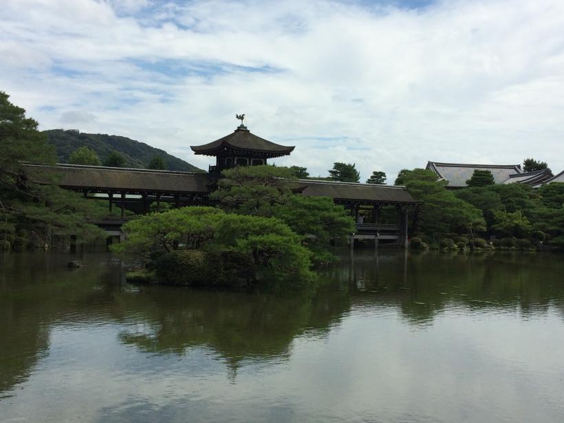 beautiful garden inside the Heian Imperial Castle