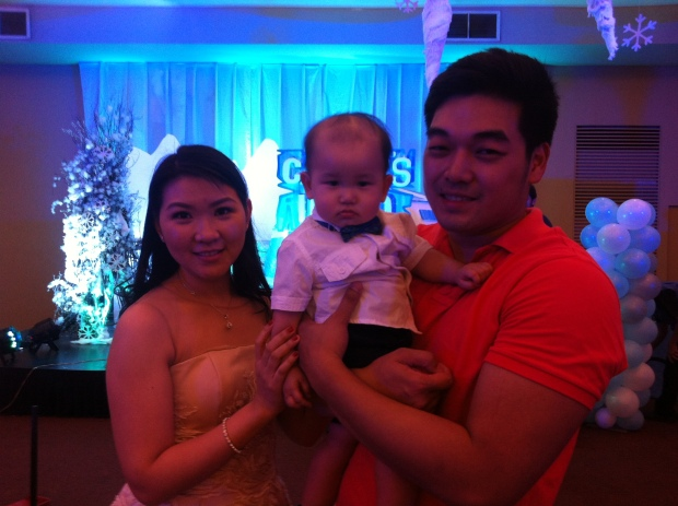 My nephew, Carvin with his parents