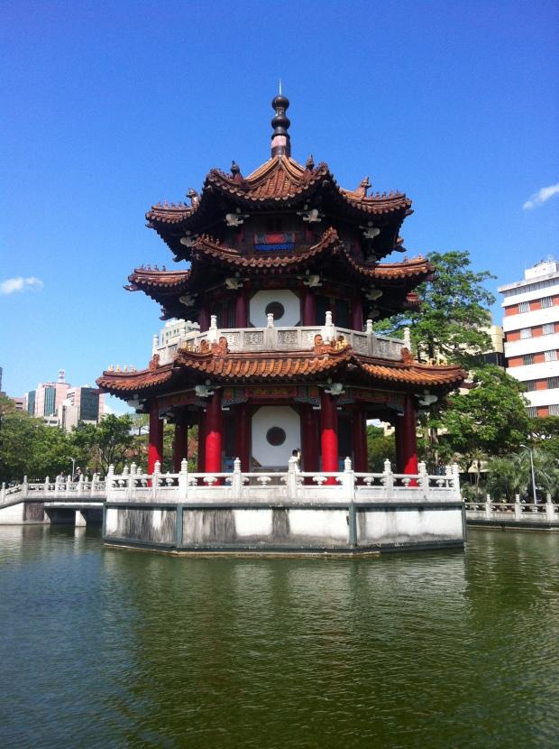Surprise Pagoda while walking around Taipei