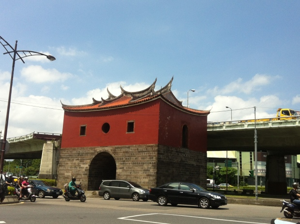Awesome old city gate in Taipei, Taiwan. I love the Fujian style dove tail at the ends