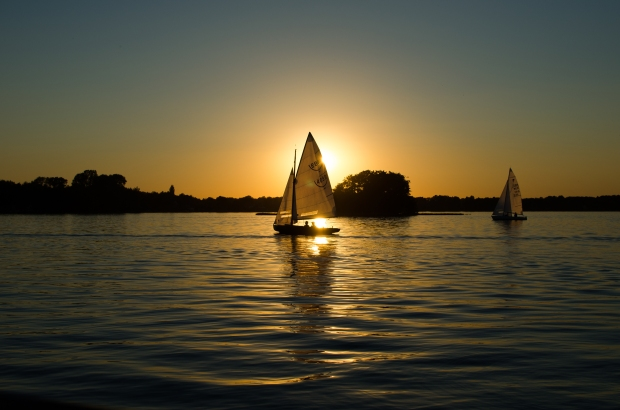Sailboats at Sunset